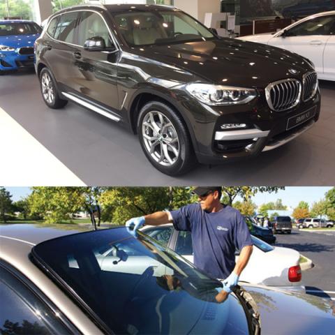 Thay KÍNH XE BMW X 3  Cao Cấp Gía rẻ Tại Hà Nội